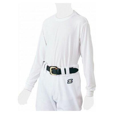 ZETT/ゼット 野球 少年 ライトフィットアンダーシャツ 長袖クルーネック 160cm ホワイト BO8810J-1100