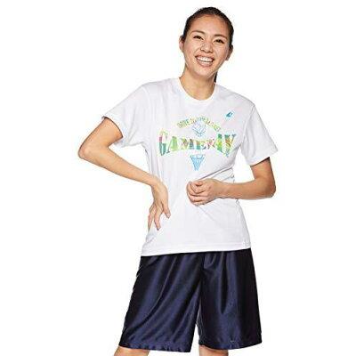コンバース 9S_ウィメンズプリントTシャツ CB391301 色 : ホワイト/サックス サイズ : M