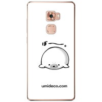 Coverfull ぼ とアザラシ クリア design by DMF / for Huawei Mate S CRR-L09/MVNOスマホ SIMフリー端末 MHWMTS-PCCL-152-M951
