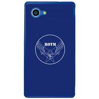 SECOND SKIN R.O.T.M air force ネイビー クリア design by ROTM / for AQUOS SERIE mini SHV33/au ASHV33-PCCL-202-Y001