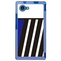 SECOND SKIN BLUE & BLACK ブルー ソフトTPUクリア design by ROTM / for AQUOS SERIE mini SHV33/au ASHV33-TPCL-702-J165