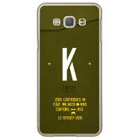 Galaxy A8 SCV32/au専用 Coverfull スマートフォンケース Cf LTD ミリタリー イニシャル アルファベット K カーキ クリア ASCV32-PCCL-152-M648
