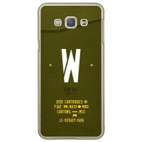 Galaxy A8 SCV32/au専用 Coverfull スマートフォンケース Cf LTD ミリタリー イニシャル アルファベット W カーキ クリア ASCV32-PCCL-152-M660