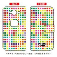 YESNO 手帳型スマートフォンケース ブロック ホワイト マルチ / for AQUOS ZETA SH-01H/docomo DSH01H-IJTC-401-N290