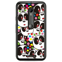 (スマホケース)Panda Face (クリア)design by Moisture / for Moto G XT1541/MVNOスマホ(SIMフリー端末)(SECOND SKIN)