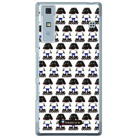 (スマホケース)Doggy Runnin Pattern (クリア)design by Moisture / for Qua phone KYV37/au (SECOND SKIN)