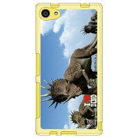 (スマホケース)Dinosaur Design 恐竜デザインシリーズ 「スティラコサウルスの群れ」 (ソフトTPUクリア)/ for Xperia Z5 Compact SO-02H/docomo