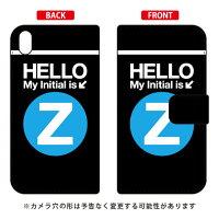 Xperia Z5 Premium SO-03H/docomo専用 Coverfull  手帳型スマートフォンケース Cf LTD サブウェイ イニシャル アルファベット Z サックス DSO03H-IJTC-401-MDK2