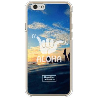 スマートフォンケース  光沢なし  HawaiianCollectionシリーズ サーフガール   クリア       iPhone 6s/Apple