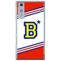 Qua phone KYV37/au専用 Coverfull スマートフォンケース Cf LTD チア イニシャル アルファベット B レッド クリア AKYV37-PCCL-152-M613