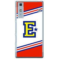 Qua phone KYV37/au専用 Coverfull スマートフォンケース Cf LTD チア イニシャル アルファベット E レッド クリア AKYV37-PCCL-152-M616