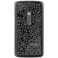 (スマホケース)CRACK ブラック (クリア)/ for Moto X Play XT1562/MVNOスマホ(SIMフリー端末)(SECOND SKIN)
