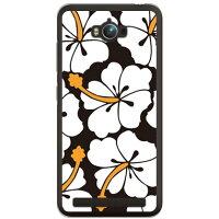 (スマホケース)北欧ハイビスカス ホワイト (クリア)/ for ZenFone Max ZC550KL/MVNOスマホ(SIMフリー端末)(SECOND SKIN)
