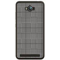 (スマホケース)グレンチェック ホワイト×ブラック (クリア)/ for ZenFone Max ZC550KL/MVNOスマホ(SIMフリー端末)(SECOND SKIN)