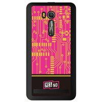スマートフォンケース  エレクトロボード ピンク クリア  ZenFone Go ZB551KL/MVNOスマホ  SIMフリー端末