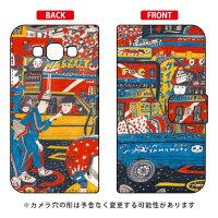 (スマホケース)手帳型スマートフォンケース 若林夏 「gas station」 / for Galaxy A8 SCV32/au (SECOND SKIN)