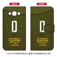 スマートフォンケース  手帳型 Cf LTD ミリタリー イニシャル アルファベット O   カーキ       Galaxy A8 SCV32/au