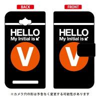 (スマホケース)手帳型スマートフォンケース Cf LTD サブウェイ イニシャル アルファベット V (オレンジ)/ for ZenFone Max ZC550KL/MVNOスマホ(SIMフリー端末)(Coverfull)