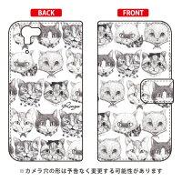 (スマホケース)手帳型スマートフォンケース 6匹のネコズ design by Ringo / for AQUOS PHONE ZETA SH-01F/docomo (Coverfull)