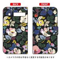 (スマホケース)手帳型スマートフォンケース SINDEE 「Bulluna Flower (ブラック)」 / for URBANO L03/au (SECOND SKIN)