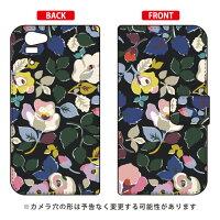 (スマホケース)手帳型スマートフォンケース SINDEE 「Bulluna Flower (ブラック)」 / for Disney Mobile on docomo SH-05F/docomo (SECOND SKIN)