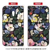 (スマホケース)手帳型スマートフォンケース SINDEE 「Bulluna Flower (ブラック)」 / for らくらくスマートフォン3 F-06F/docomo (SECOND SKIN)