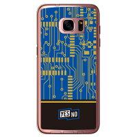 (スマホケース)エレクトロボード ブルー (クリア)/ for Galaxy S7 edge SC-02H・SCV33/docomo・au (YESNO)