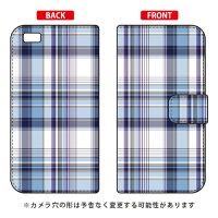 スマートフォンケース   手帳型 (マドラスチェック ブルー) /    LUMIERE 503HW/Y  mobile