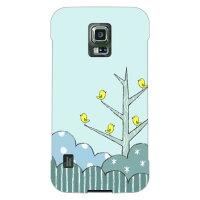 (スマホケース)uistore 「Tree of Bird (Blue)」 / for GALAXY S5 ACTIVE SC-02G/docomo (SECOND SKIN)