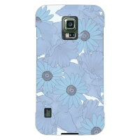 (スマホケース)uistore 「Nostalgic Flower (Watery Blue)」 / for GALAXY S5 ACTIVE SC-02G/docomo (SECOND SKIN)