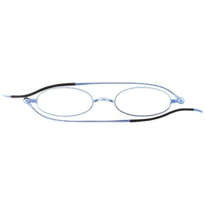 栞SHIORI しおりのように薄いリーディンググラス老眼鏡 オーバルタイプ ブルー SI-01S