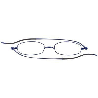 栞SHIORI しおりのように薄いリーディンググラス老眼鏡 スクエアタイプ ネイビー SI-02S