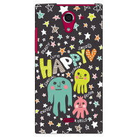 (スマホケース)uistore 「SCRIBBLE (Gray)」 / for AQUOS CRYSTAL X 402SH/SoftBank (SECOND SKIN)