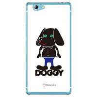 (スマホケース)Doggy Pure ホワイト (クリア)design by Moisture / for SAMURAI 麗(REI)FTJ161B/MVNOスマホ(SIMフリー端末)(SECOND SKIN)