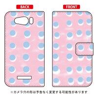 (スマホケース)手帳型スマートフォンケース オブチジン 「dot series ピンク」 / for AQUOS PHONE Xx mini 303SH/SoftBank (SECOND SKIN)