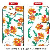 スマートフォンケース  手帳型 Cf LTD 水彩 パンジー オレンジ /    Qua phone PX LGV33/au