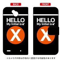 (スマホケース)手帳型スマートフォンケース Cf LTD サブウェイ イニシャル アルファベット X (オレンジ)/ for Disney Mobile on docomo DM-02H/docomo (Coverfull)