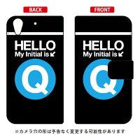 (スマホケース)手帳型スマートフォンケース Cf LTD サブウェイ イニシャル アルファベット Q (サックス)/ for HTC Desire 626/MVNOスマホ(SIMフリー端末)(Coverfull)