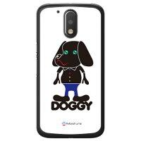 (スマホケース)Doggy Pure ホワイト (クリア)design by Moisture / for Moto G4 Plus XT1644/MVNOスマホ(SIMフリー端末)(SECOND SKIN)