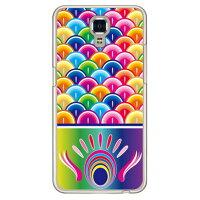 (スマホケース)鯉のぼり レインボー (クリア)/ for LG X screen LGS02/MVNOスマホ(SIMフリー端末)(Coverfull)