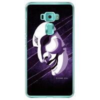 (スマホケース)宣弘社ヒーローシリーズ 月光仮面(サタンの爪バイオレット)(クリア)design by figeo / for ZenFone 3(5.2インチ)ZE520KL/MVNOスマホ(SIMフリー端末)(Coverfull)