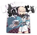 コスパ Fate/Grand Order セイバー/沖田総司フルグラフィックTシャツ ホワイト / XL