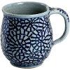 マグカップ おしゃれ : 有田焼 タコ唐草 手造りマグカップ japanese mug pottery/sizecm  x9/no:215899