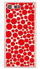 SECOND SKIN バブルドット ホワイト×レッド クリア / for Xperia X Compact SO-02J/docomo DSO02J-PCCL-201-Y238