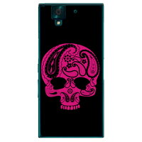 SECOND SKIN Paisley skull ブラック クリア design by ROTM / for arrows NX F-02H/docomo DFJ02H-PCCL-202-Y077
