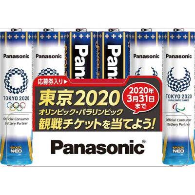 Panasonic アルカリ乾電池 エボルタネオ 単4  LR03NJTP/6S