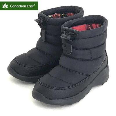 Canadian East/カナディアンイースト CEM300 カナディアンイースト グリーンレーベル ジュニアウィンターブーツ ブラック