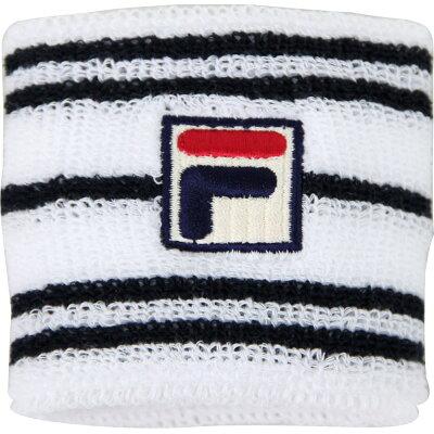 フィラ FILA レディース テニス ショートリストバンド ホワイト フリーサイズ VL9158 01