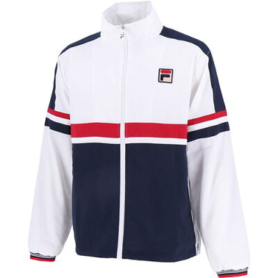 フィラ FILA メンズ テニスウェア ウィンドアップジャケット ホワイト VM5410 01