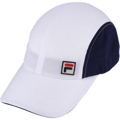 フィラ FILA メンズ レディース テニス ユニメッシュキャップ ホワイト/紺 フリーサイズ VM9707 20A